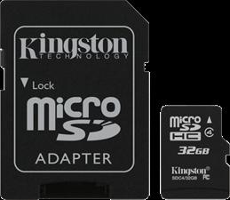 Kingston Micro SD Secure Digital Card w/ Adapter