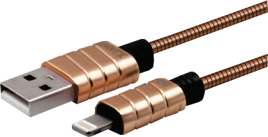 iWalk 4' Metallic Stainless Steel Lightning Cable