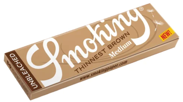 Smoking, Thinnest Brown 1.25 Rolling Papers