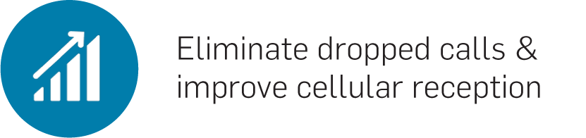 Eliminate dropped calls & improve cellular reception