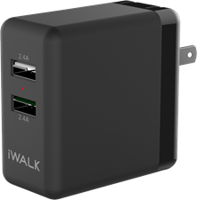 iWalk 4.8A Dual-USB Wall Charger
