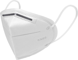 General PPE KN95 Respirator Face Mask (Box of 5) White