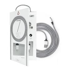 KDO LBT 7ft Micro USB Cable Black White