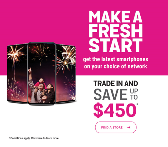 New Year – Trade in and save up to $450