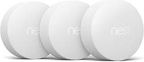 Google Nest Temperature Sensor White Smart Home 3-Pack