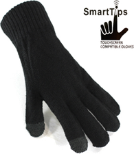 Base iGLOVE SMART TIP TOUCHSCREEN WINTER KNIT SHORT GLOVES (ONE SIZE)