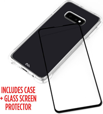 CaseMate Galaxy S10e Protection Pack Tough Clear Case Plus Glass Screen Protector