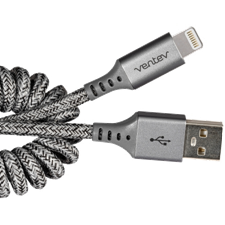 Ventev Chargesync Helix Coiled Usb A To Apple Lightning Cable