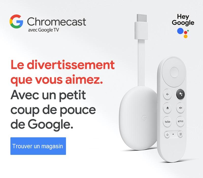 Google Chromecast avec Google TV