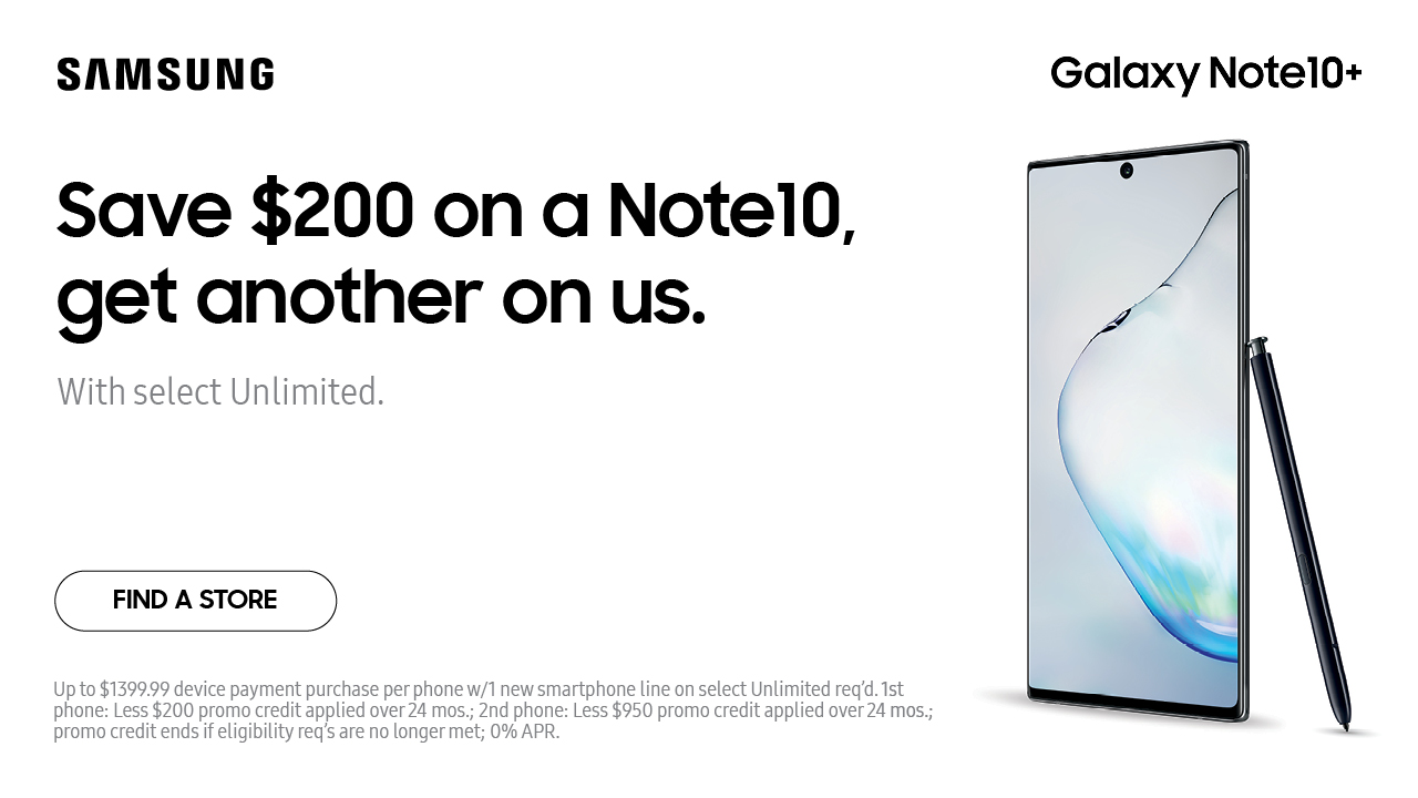 $200 off a Galaxy Note10