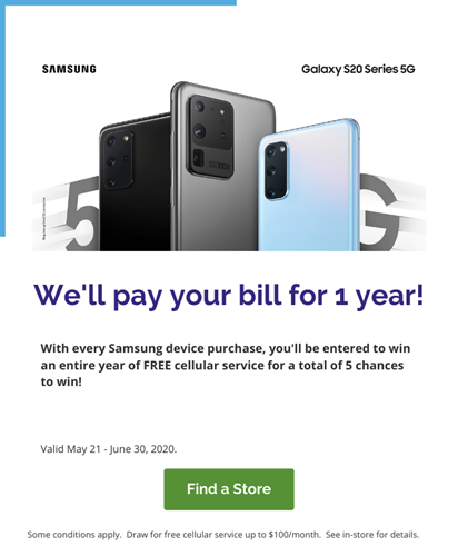 We'll pay your bill for 1 year