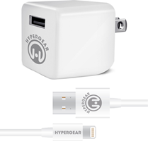 HyperGear Wall Charger 2.4A w/ 4 ft. Lightning Cable