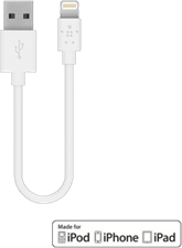 Belkin Lightning USB To USB Charge/Sync 6'' Cable