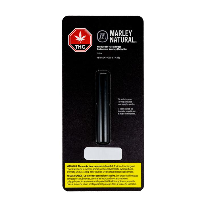 Indica (Black) - Marley Natural - 510 Cartridge
