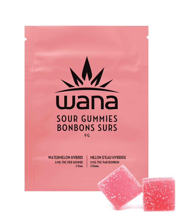 Watermelon Sour Soft Chews - Wana - Gummies