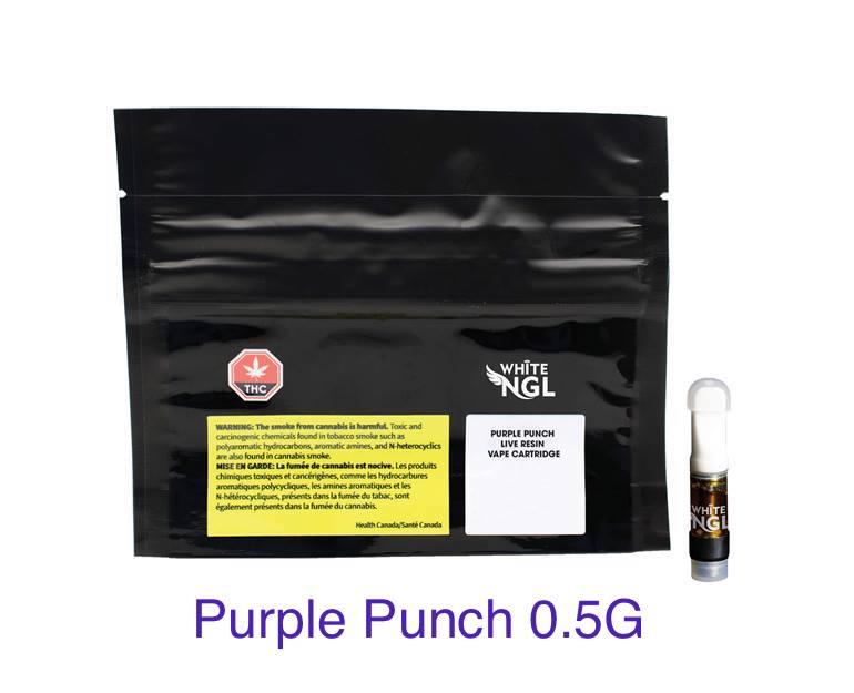 White NGL - Purple Punch Live Resin Vape Cartridge 0.5g Image