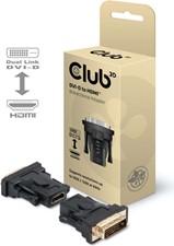 Club3D -  DVI-D (24+1 PIN) Male to HDMI 1.3 Female Black