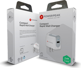 PowerPeak Compact Rapid Wall Charger