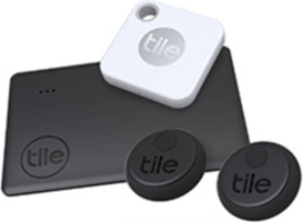 Tile Mate, Slim & Sticker (2020) Essentials 4-Pack Bluetooth Tracker