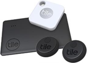 Tile Mate, Slim & Sticker (2020) Essentials 4-Pack Bluetooth Tracker
