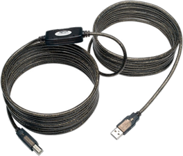 Tripp Lite 25' USB 2.0 Hi-Speed A/B Active Repeater Cable M/M