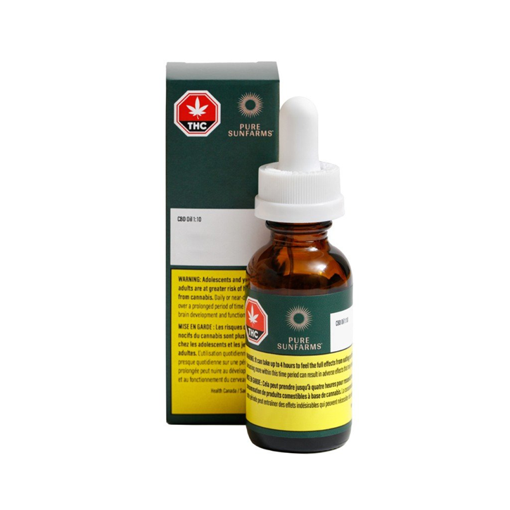Pure Sun CBD 1:10 - Pure SunFarms - Ingestible Oil