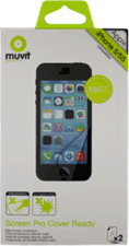 Muvit Apple iPhone 5/5c/5s Cover Ready ScreenProtector (2pk)