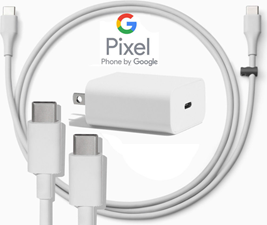 Google GOOGLE PD CHARGE TYPE C CHARGER (HEAD & DATA CABLE) - WHITE