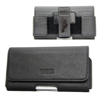 Roots Horizontal Leather Holster with Adjustable Velcro Sides to Fit  XLarge Phones