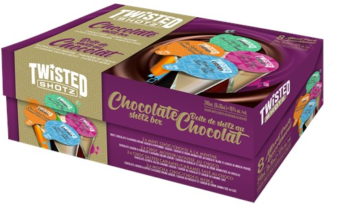 Independent Distillers Canada Twisted Shotz Chocolate Box 8 x 30ml