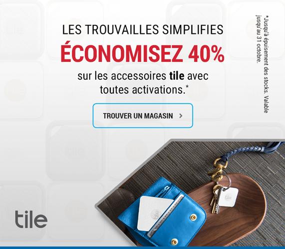 Economisez 40% sur les accessoires tile