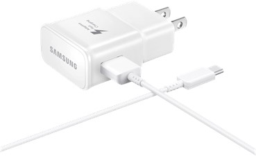Samsung USB-C Fast Charging Wall Charger (Detachable USB-C/USB Cable)
