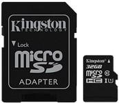 Kingston Canvas Select 32GB microSD Card w/ Adapter