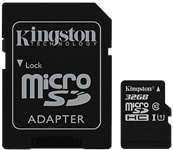 Kingston Canvas Select 32GB microSD Card w/ Adapter