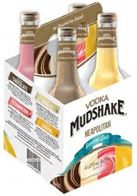 Independent Distillers Canada Vodka Mudshake Neapolitan Mixed Pack 1080ml