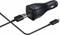 Samsung Adaptive Fast Charging Dual-Port Vehicle Charger (Detachable Micro USB and Type C Cable)