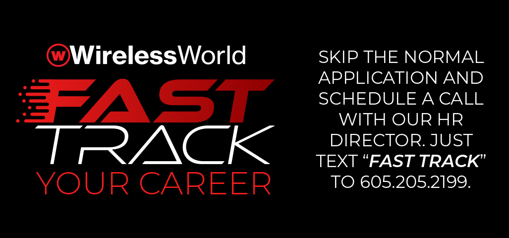 Fast Track Your Career by texting Fast Track to 6052052199 to speak to our HR Director