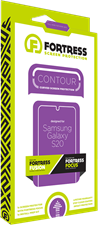 Fortress Galaxy S20 Contour Fusion Screen Protector $200 Guarantee