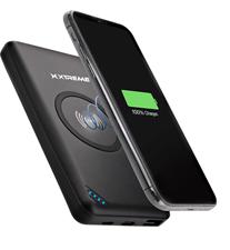 Xtreme 10,000mAh 5W Qi Wireless Charging 2A BattPack Black