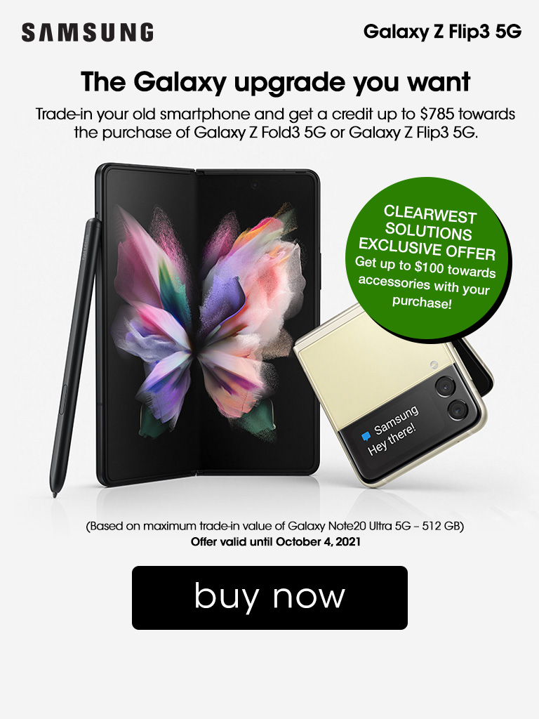 Get $100 Towards Accessories With Your Samsung Galaxy Z Fold3 or Flip3 5G Smartphone!
