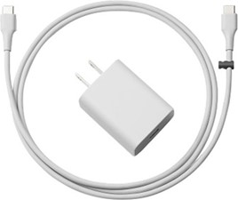 Google 18W OEM USB-C Wall Charger Hub w/ 3ft. USB-C to USB-C Cable