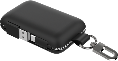 Qmadix - Power Bank 5000 Mah For Type C Devices - Black