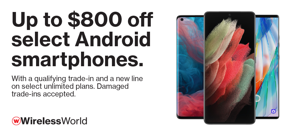 Up to $800 off select Android smartphones with new line