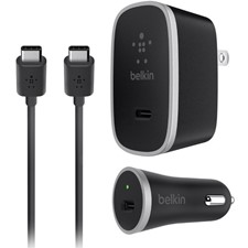 Belkin USB-C Charger Kit + Cable - Car And Wall Charger With Type C Cable