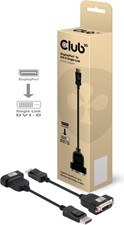 Club3D - Display Port Male to Active DVI Single Link Female Active Adapter