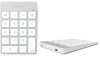 Satechi Aluminum Slim Rechargeable Bluetooth Keypad