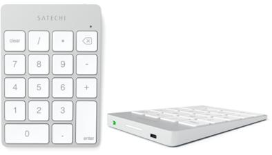 Satechi Aluminum Slim Rechargeable Bluetooth Keypad