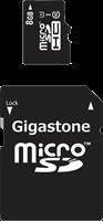 Gigastone 8GB 2-in-1 MicroSDHC Memory Card