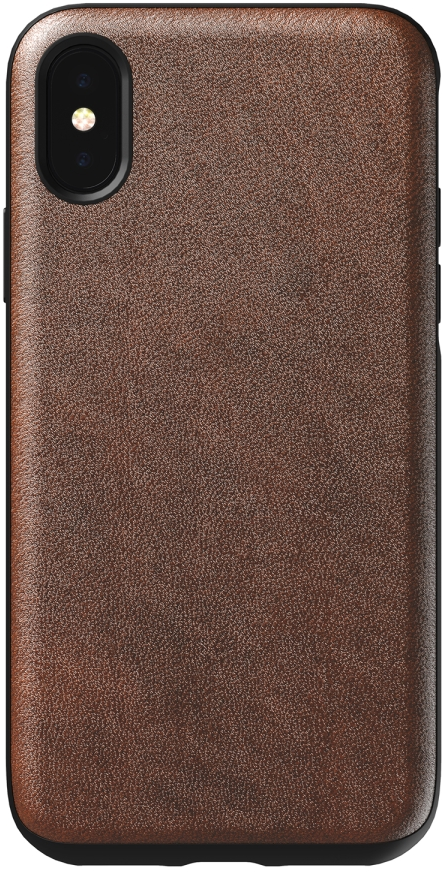 iPhone XS Rugged Leather Folio Case