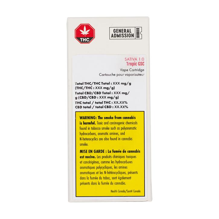 Tropic GSC - General Admission - 510 Cartridge